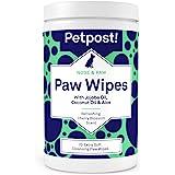 Petpost | Lingettes essuie pattes pour chien - Lingettes nettoyantes, hydratantes et revitalisantes pour pattes de chien à l'