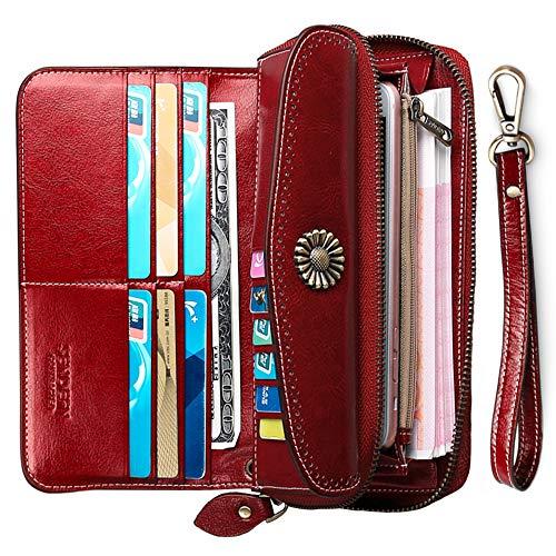 76cdf02c57f Carteras Mujer Grande Monederos Mujer Cuero Billeteras Mujer Grandes ...