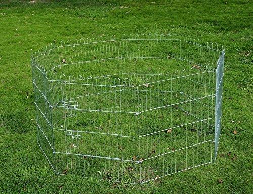 pawhut-recinto-per-cani-gatti-cuccioli-roditori-recinzione-rete-gabbia-8-pezzi-107-x-63-hxl-cm