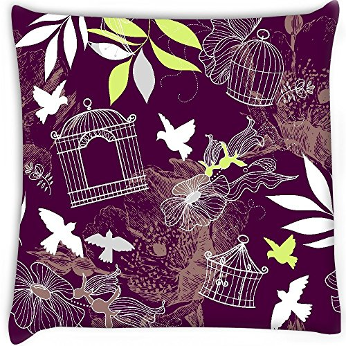 Vögel und Vogelkäfige Nahtlose Muster Home Decor Werfen Sofa Auto Kissenbezug Kissen Fall 30,5x 30,5cm