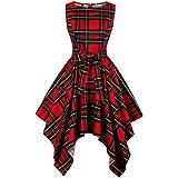 Wellwits Dashiki vestido vintage asimétrico alto bajo estampado africano para mujer