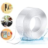 Jeteven Ruban adhésif Lavable sans Traces,Ruban Adhésif Double Face Nano Antidérapant Transparent Traceless Tape Lavable…