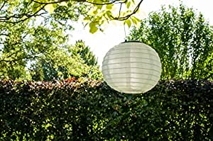 solar lampion wei gartenlampion partylaterne 20 cm solarleuchte deko garten. Black Bedroom Furniture Sets. Home Design Ideas