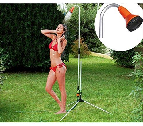 Doccia da esterni GARDEN & GO! con struttura estensibile fino a 225 cm per giardino e piscina 538201. MWS