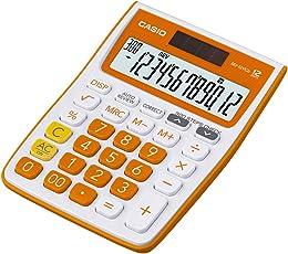 Casio MJ-12VCB-RG Desktop Calculator (White and Orange)