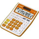 Casio MJ-12VCb-RG 300 Steps Check & Correct Colourful Desktop Calculator (Orange)