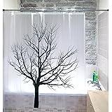 Tatkraft Tree Rideau de Douche 180X180 cm étanche PEVA