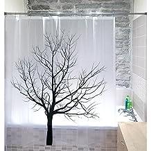 Tatkraft - Tree Cortina de Ducha PEVA 180X180 cm Impermeable