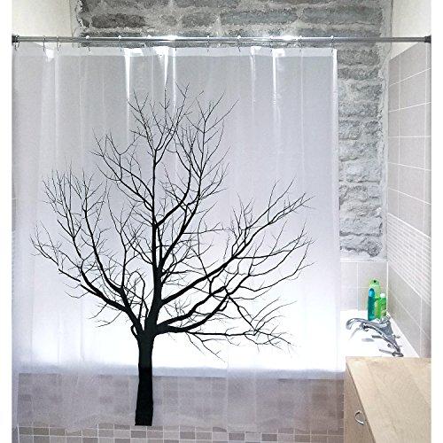 Tatkraft - Tree Cortina de Ducha PEVA 180X180 cm...