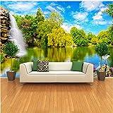 Guyuell 3D Fototapete Tapete Für Die Wände Chinesische Landschaft Natürliche Landschaft Fällt Benutzerdefinierte 3D Fototapete Bettwäsche Zimmer Wanddekor-200Cmx140Cm