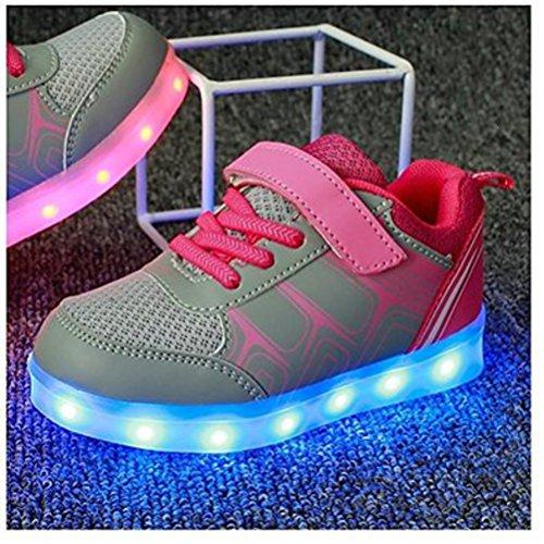 junglest® Athletische Sportschuhe present Kinder Sneakers Leuchtet Mdchen Grau Bunte S Jungen kleines Led Handtuch EEzwxqanP