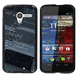 Housse Coque Hard Case étui Motorola Moto X 1 1st GEN I XT1058 XT1053 XT1052 XT1056 XT1060 XT1055 Maths Black Board Calculation Formula Art / STRONG