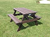 Adult Picnic Table Brown 100% Recycled Plastic