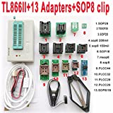 TL866II Plus USB Programmer 13 Adapter Socket SOP8 Clip 1.8V nand Flash 24 93 25 mcu Bios Eprom AVR Eprom