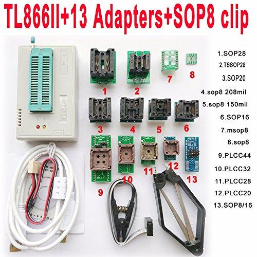 TL866II Plus USB Programmer 13 Adapter Socket SOP8 Clip 1.8V nand Flash 24  93 25 9987353e8fd33