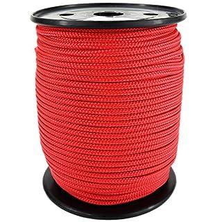 PP Seil Polypropylenseil SH 5mm 100m Farbe Rot (0114) Geflochten