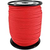 PP Seil Polypropylenseil SH 4mm 100m Farbe Rot (0114) Geflochten