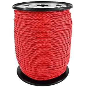 PP Seil Polypropylenseil SH 3mm 100m Farbe Rot (0114) Geflochten