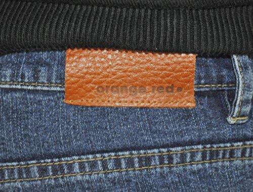 Orange Red - Herren 5-Pocket Jeans mit Stretch in Schwarz oder Blau Blau