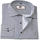 Global Rang Men's Printed Casual White Shirt(GR-666-WH-S)