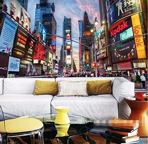 (Wandbild Hintergrundbild 3D Ktv Reiswein Dessert Café Personalisierte Thema Wand Papier Straßen Von New York 3D Wandbild Tapete 350 * 245 Cm)