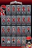 Power Rangers Red Ranger Evolution Poster Standard