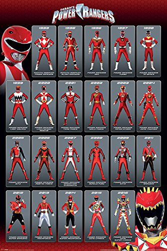 Standard-möbel-poster (Power Rangers Red Ranger Evolution Poster Standard)