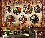 BHXINGMU Kundenspezifische Wandbilder 3D-Stereo-Gewürze Hot Pot-Restaurants Wanddekoration Für Hotels 280Cm(H)×400Cm(W)