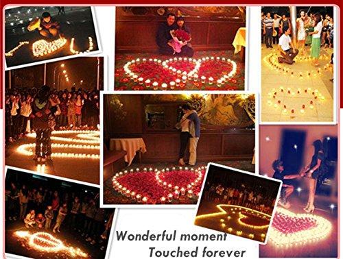 Velas LED, Morbuy Luz De La Vela Del LED Luces Control Remoto Sin llamas 24PC Para la Boda Cumpleaños Celebración Día de San Valentín Fiesta Halloween Navidad Decoración Del Hogar (Rojo)