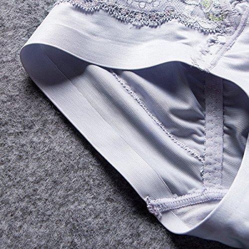 Frau Weich Sexy Hohe Taille Gemütlich Bauch Heben Sie Die Hüften Körperformung Dreieck Unterwäsche Purple