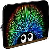 Sidorenko Laptop Tasche für 15-15,6 Zoll | Universal Notebooktasche Schutzhülle | Laptoptasche aus Neopren, PC Computer Hülle Sleeve Case Etui, Grün/Schwarz