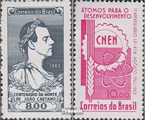 Prophila Collection Brasilien 1040,1041 (kompl.Ausg.) 1963 Joao Caetano, Kernenergie (Briefmarken für Sammler)