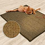 casa pura® Sisal Cat Scratch Mat, Cork Tweed - 60x80cm (24' x 32') | Protection Play Pad | Multiple Sizes Available