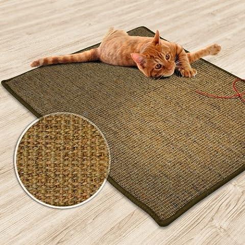 Casa Pura® Sisal Kratzmatte, Kork Tweed | Schutz Play Pad | mehrere Größen erhältlich 60 x 80 cm braun