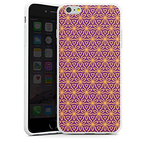 Apple iPhone X Silikon Hülle Case Schutzhülle Blumen Illusion Muster Silikon Case weiß