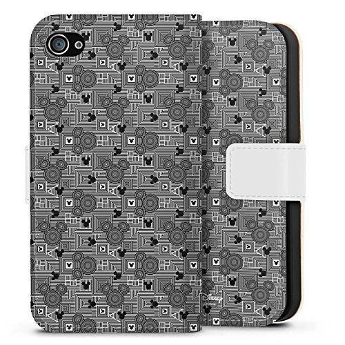 Apple iPhone X Silikon Hülle Case Schutzhülle Disney Mickey Mouse Geschenke Fanartikel Sideflip Tasche weiß
