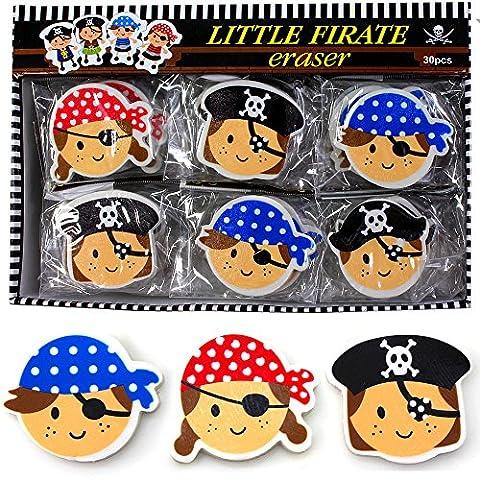 German Trendseller® - 8 x gomme de pirates┃Ohé du bateau┃ la fête des pirates┃l