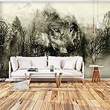 murando - Fototapete Wolf 400x280 cm - Vlies Tapete - Moderne Wanddeko - Design Tapete - Wandtapete - Wand Dekoration - Wald g-A-0139-a-d