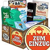 Zum Einzug | Pflege Box | Geschenkbox | Zum Einzug | Pflegepaket | Geschenk zum Einzug Mann | mit Florena Creme, Elka Dent, Badusan und mehr
