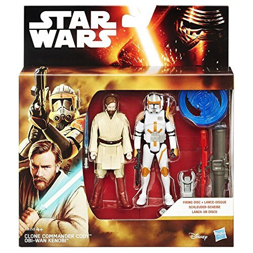 Star Wars Episode 3 Obi Wan Kenobi & Clone Commander Cody Figures Set B3958 by Hasbro