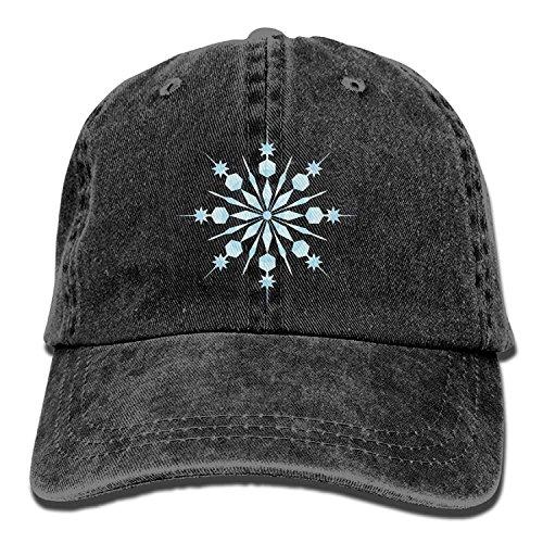 Hoswee Unisex Kappe/Baseballkappe, 2018 Adult Fashion Cotton Denim Baseball Cap Blue Snowflakes Classic Dad Hat Adjustable Plain Cap