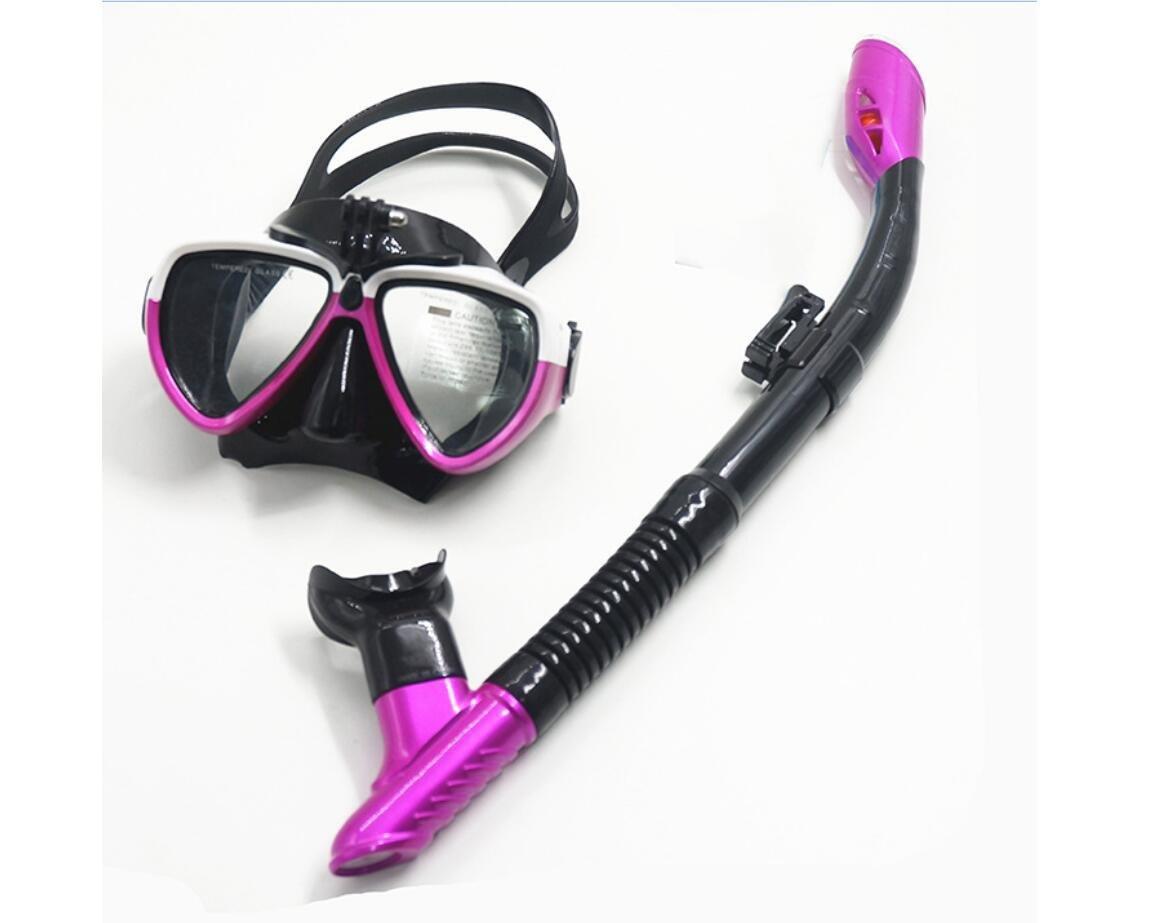 HJXJXJX Snorkeling tre tesori anti - nebbia specchio diving specchio pieno asciutto tubo uomini e d