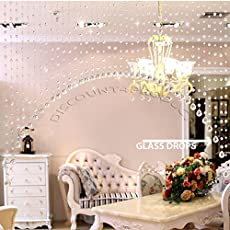 Discount4product 30 Strings Crystal Bead Hanging Curtain Glass Drops