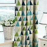 Providethebest Dreieck Blockout Fenster Vorhang verdicken Stoff Kind-Vorhang Eyelet Grün 100 * 250cm