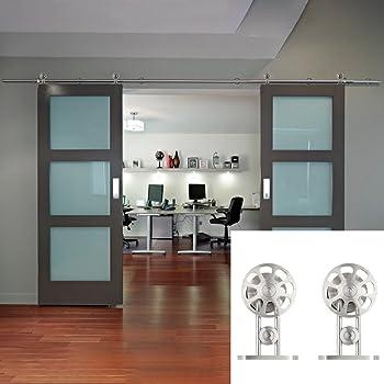 Modern Interior Double Glass Sliding Door System Amazon Diy