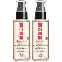 K-Cheratina Liquida - Siero Professionale con Cheratina Idrolizzata e Olio di Argan per Capelli Danneggiati…