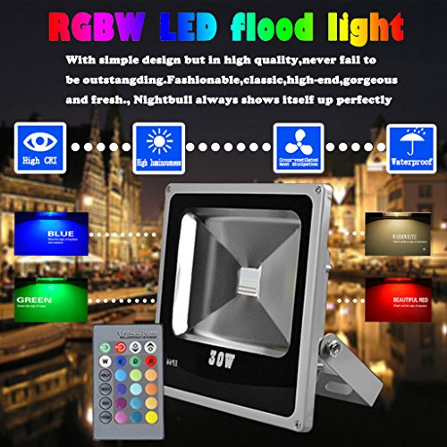 gbar-4pcs-30w-rgbw-led-light-outdoor-flood-light-multicolor-garden-security-lamp-remote-fedex-shippi