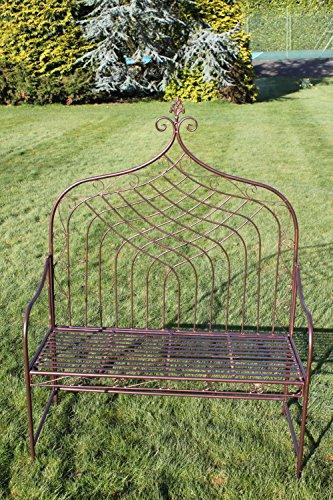 GardenMarketPlace 2-Sitzer Klappbank aus Metall im 'Elizabethan' Stil - Antik-Bronze-mit Hoher Rücken