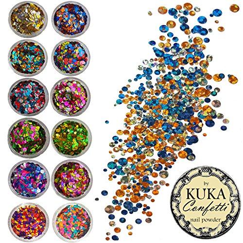 Juego de confeti de lentejuelas Kuka