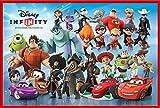 empireposter 'Poster mit Figuren Disney Infinity, mit vielen Figuren, Zubehör Cornice in plastica Rosso
